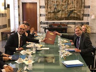 ALFANO INCONTRA IL COMMISSARIO HAHN