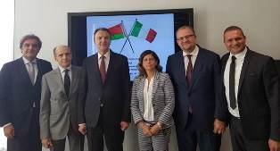 ITALIA – BIELORUSSIA: L'AMBASCIATORE DI BELARUS E IL PRESIDENTE DELLA CAMERA DI COMMERCIO BIELORUSSA IN CNA