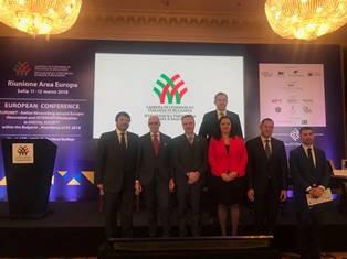 """""""EURONET-ITALIAN NETWORKING AROUND EUROPE"""": SUCCESSO A SOFIA PER IL CONVEGNO EUROPEO RPOMOSSO DALLA CCIB"""