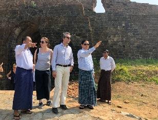 L'ITALIA SOSTIENE LO SVILUPPO DEL RAKHINE IN MYANMAR: VISITA DELL'AMBASCIATORE ALIBERTI AL SITO ARCHEOLOGICO DI MRAUK-U