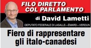 FIERO DI RAPPRESENTARE GLI ITALO-CANADESI - di David Lametti