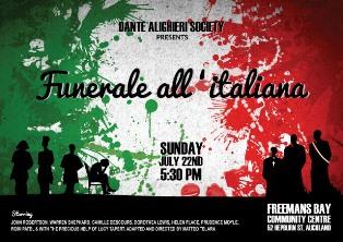 """""""FUNERALE ALL'ITALIANA"""" A AUCKLAND CON LA DANTE ALIGHIERI"""