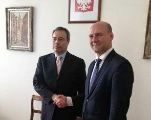 VARSAVIA: L'AMBASCIATORE DE PEDYS INCONTRA IL SEGRETARIO DI STATO SZYMON SZYNKOWSKI VEL SEK
