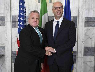 IL MINISTRO ALFANO INCONTRA IL VICE SEGRETARIO DI STATO USA SULLIVAN