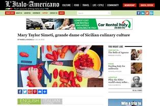 MARY TAYLOR SIMETI: GRAN DAMA DELLA CULTURA CULINARIA SICILIANA – di Mariella Radaelli
