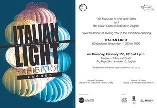 """""""ITALIAN LIGHT"""" IN MOSTRA AL MUO DI ZAGABRIA"""