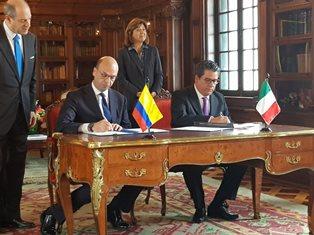 BILANCIO POSITIVO PER LA VISITA DEL MINISTRO ALFANO IN COLOMBIA