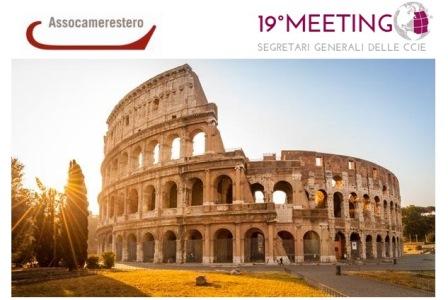 A ROMA IL 19° MEETING DELLE CAMERE DI COMMERCIO ALL'ESTERO