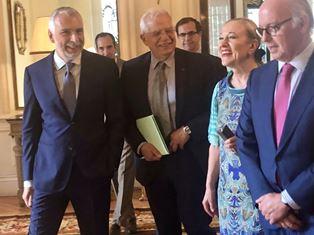 MADRID: IL MINISTRO BORRELL ALLA CONFERENZA SULL'EUROPA ALL'AMBASCIATA ITALIANA