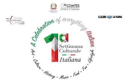 """INIZIA DOMANI LA """"SETTIMANA CULTURALE ITALIANA"""" ORGANIZZATA DAL COMITES DI MELBOURNE"""