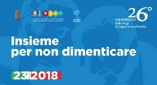 26° ANNIVERSARIO DELLE STRAGI DI CAPACI E VIA D'AMELIO: 70.000 STUDENTI INSIEME CONTRO LE MAFIE
