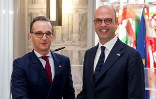 IL MINISTRO ALFANO INCONTRA ALLA FARNESINA IL COLLEGA TEDESCO HEIKO MAAS