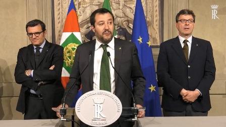 SALVINI: SIAMO PRONTI A FAR CRESCERE L'ITALIA