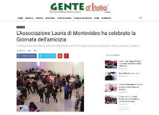 L'ASSOCIAZIONE LAURIA DI MONTEVIDEO HA CELEBRATO LA GIORNATA DELL'AMICIZIA - di Matteo Forciniti