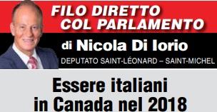 ESSERE ITALIANI IN CANADA NEL 2018 – di Nicola Di Iorio