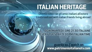 """FRANCESCO LO COCO OSPITE DELLA DIRETTA DI """"ITALIAN HERITAGE"""" SU PATRIMONIO ITALIANO TV"""