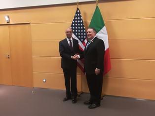 BRUXELLES: ALFANO INCONTRA IL SEGRETARIO DI STATO USA POMPEO