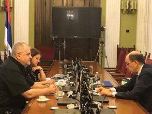 BELGRADO: L'AMBASCIATORE LO CASCIO INCONTRA IL PRESIDENTE DELLA COMMISSIONE PARLAMENTARE PER L'INTEGRAZIONE EUROPEA