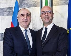 IL MINISTRO ALFANO INCONTRA IL COLLEGA AZERO ELMAR MAMMADYAROV