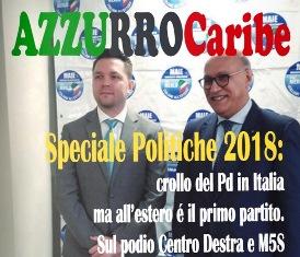 """ONLINE L'ULTIMO NUMERO DI """"AZZURRO CARIBE"""" SPECIALE POLITICHE 2018"""