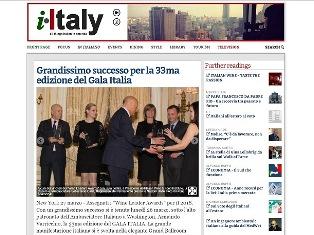NEW YORK: GRANDISSIMO SUCCESSO PER LA 33MA EDIZIONE DEL GALA ITALIA