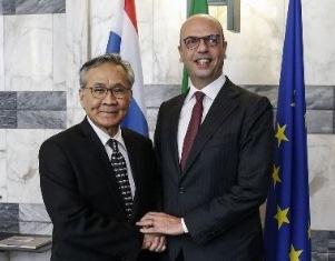 ALFANO RICEVE IL COLLEGA THAILANDESE DON PRAMUDWINAI ALLA FARNESINA