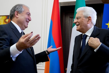 MATTARELLA: CON L'ARMENIA AMICIZIA ANTICA E PROFONDA
