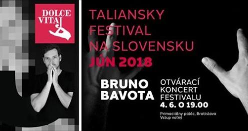 """IL CONCERTO DI BRUNO BAVOTA APRE L'11° FESTIVAL ITALIANO IN SLOVACCHIA """"DOLCE VITAJ"""""""