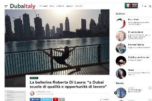 """LA BALLERINA ROBERTA DI LAURA: """"A DUBAI SCUOLE DI QUALITÀ E OPPORTUNITÀ DI LAVORO"""" – di Elisabetta Norzi"""