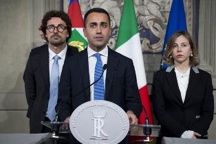 """CONSULTAZIONI/ DI MAIO (M5S): UN CONTRATTO ALLA TEDESCA CON LEGA O PD PER UN """"GOVERNO DEL CAMBIAMENTO"""""""