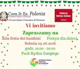 DOMANI A VARSAVIA LA FESTA DEI BAMBINI PROMOSSA DAL COMITES