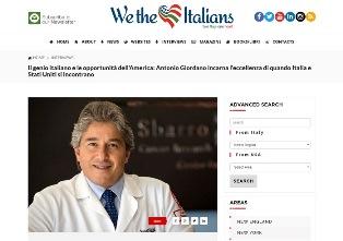 MUCCI (WETHEITALIANS) A COLLOQUIO CON IL DIRETTORE DELLO SBARRO INSTITUTE FOR CANCER RESEARCH ANTONIO GIORDANO