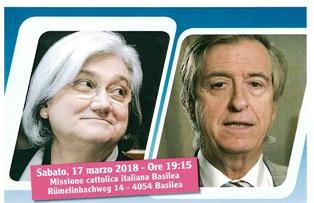 """""""LA CULTURA DELLA LEGALITÀ"""": ROSY BINDI E PAOLO BERNASCONI A BASILEA CON COMITES E CGIE"""