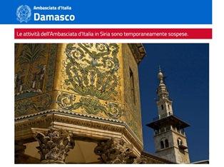 AMBASCIATA D'ITALIA A DAMASCO: LE PRECISAZIONI DELLA FARNESINA