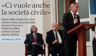 NANDO DALLA CHIESA NUOVO DIRETTORE DELLA LIBERA CATHEDRA GIOVANNI FALCONE E PAOLO BORSELLINO – di Massimo Barzizza