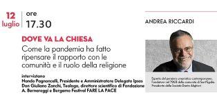 """DOVE VA LA CHIESA: ANDREA RICCARDI (SANT'EGIDIO) AL """"BERGAMO FESTIVAL - FARE LA PACE"""""""