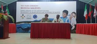 L'UNIVERSITÀ MILANO-BICOCCA ALLE MALDIVE: RINNOVATO L'ACCORDO