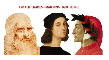 LRD CENTENARIES - MATCHING ITALIC PEOPLE