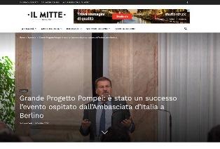 GRANDE PROGETTO POMPEI: È STATO UN SUCCESSO L'EVENTO OSPITATO DALL'AMBASCIATA D'ITALIA A BERLINO - di Alessia Del Vigo
