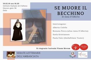 """""""SE MUORE IL BECCHINO"""": IL LIBRO DI ANNA D"""