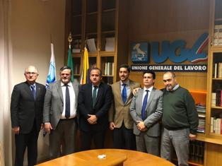 PAOLO CAPONE (UGL) RICEVE LA DELEGAZIONE VENEZUELANA INVIATA DA GUAIDÓ