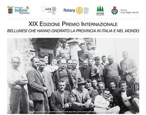 """DOMANI LA XIX EDIZIONE DEL """"PREMIO INTERNAZIONALE BELLUNESI CHE ONORANO LA PROVINCIA IN ITALIA E ALL'ESTERO"""""""