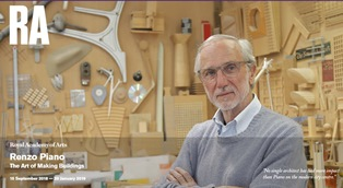"""RENZO PIANO: THE ART OF MAKING BUILDING"" IN MOSTRA ALLA ROYAL ACADEMY OF ART DI LONDRA"