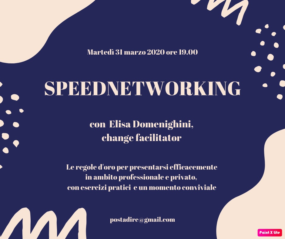 SPEEDNETWORKING: ELISA DOMENIGHINI OSPITE DI DIRE – DONNE ITALIANE RETE ESTERA A PARIGI
