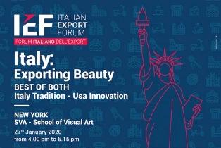 """ITALY: EXPORTING BEAUTY"" L'ITALIA EXPORT FORUM A NEW YORK"