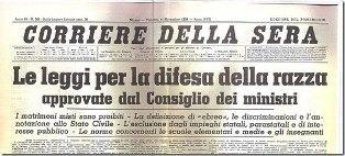 """""""CHIESA, FASCISMO ED EBREI: LA SVOLTA DEL 1938"""": LUNEDÌ CONVEGNO ALLA """"DANTE"""" DI ROMA"""
