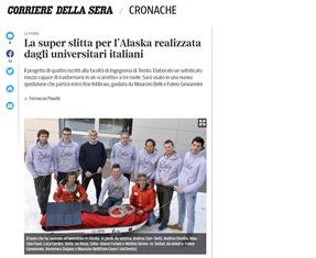 LA SUPER SLITTA PER L'ALASKA REALIZZATA DAGLI UNIVERSITARI ITALIANI – di Ferruccio Pinotti