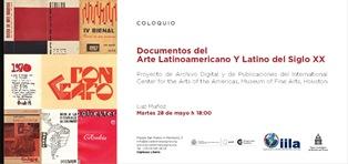 """DOCUMENTOS DEL ARTE LATINOAMERICANO Y LATINO DEL SIGLO XX"": LUZ MUÑOZ A ROMA CON L'IILA"