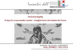 FLESSIBILITÀ PERSONALE, LA CHIAVE PER UNA CARRIERA DI SUCCESSO: ESEMPI DALL'AERONAUTICA ITALIANA – di Roberta Alberotanza
