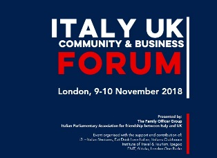 "A LONDRA LA PRIMA EDIZIONE DELL'""ITALY - UK COMMUNITY & BUSINESS FORUM"""